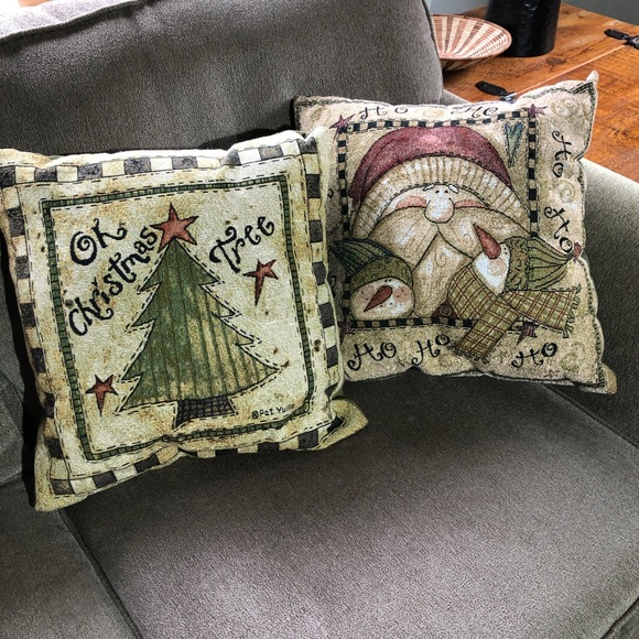 Pleasant Throw Pillows Christmas Decor Set Of Two Square Ocoug Best Dining Table And Chair Ideas Images Ocougorg
